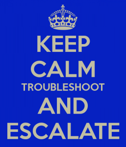 keep calm and escalate